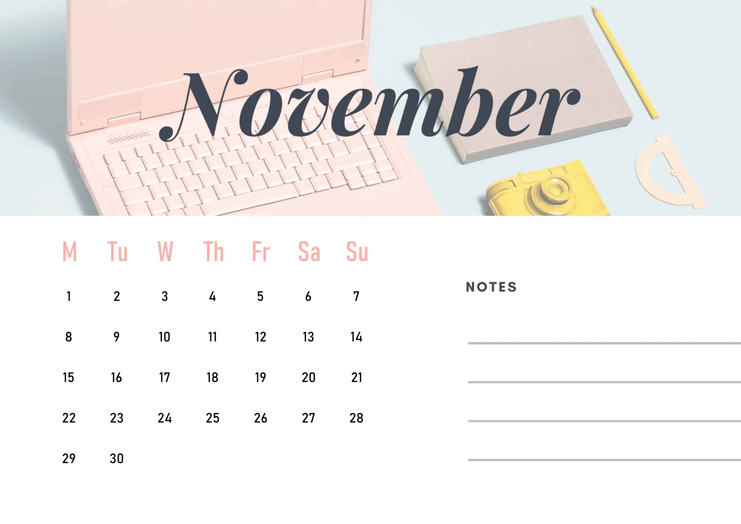 Cute November 2021 Calendar Wallpaper download
