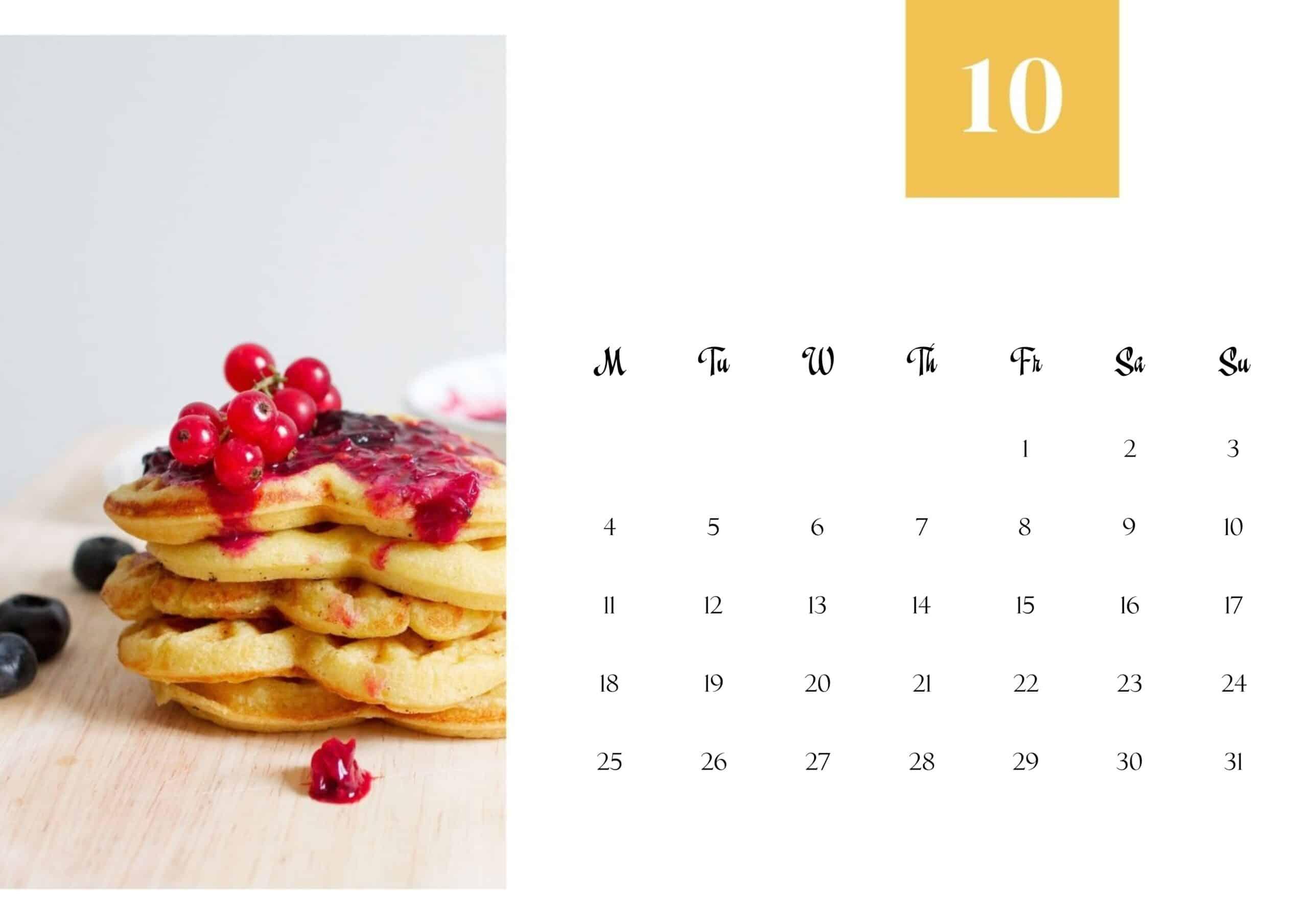 Cute October 2021 Calendar Wallpaper
