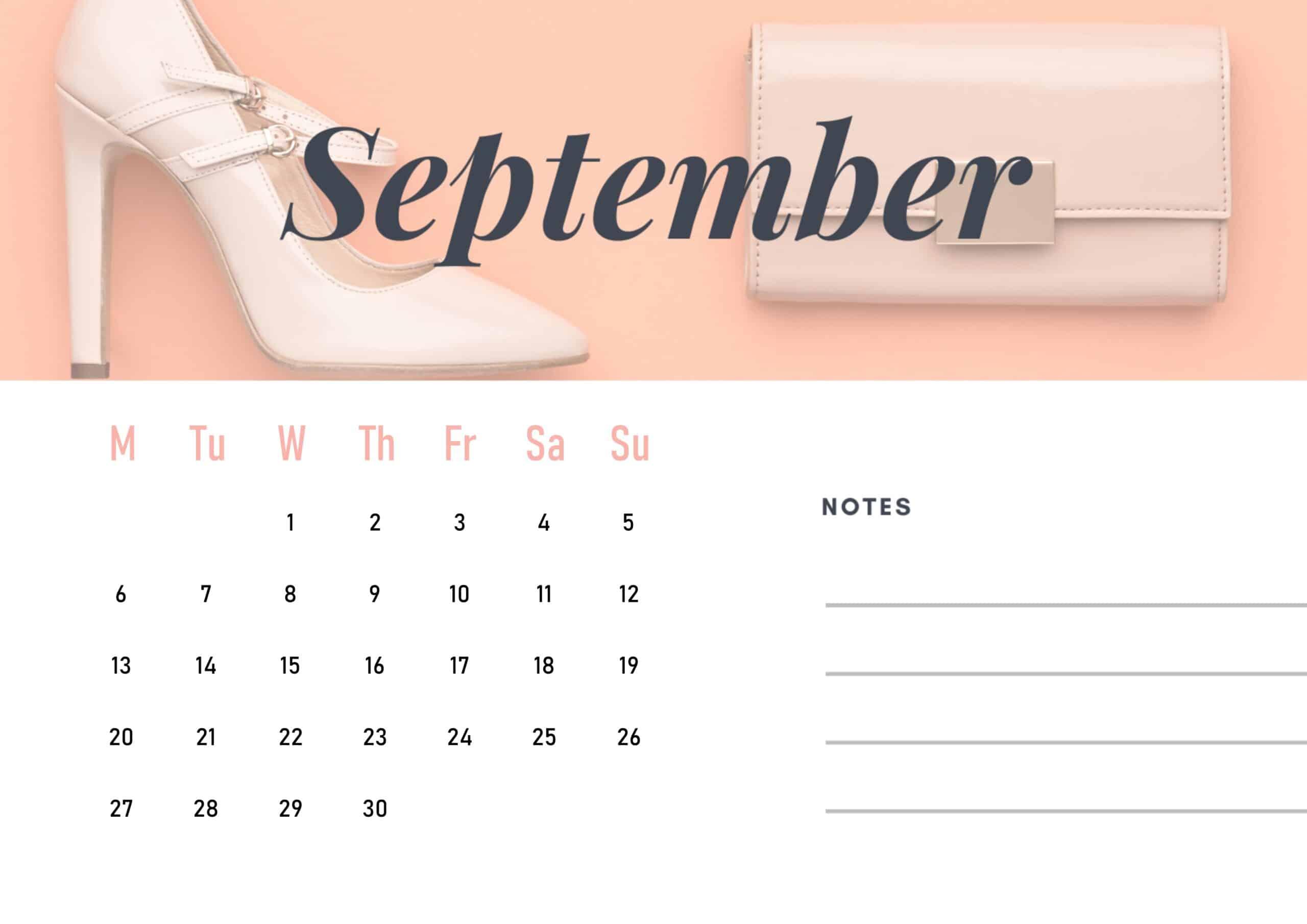 Cute September 2021 Calendar Wallpaper download