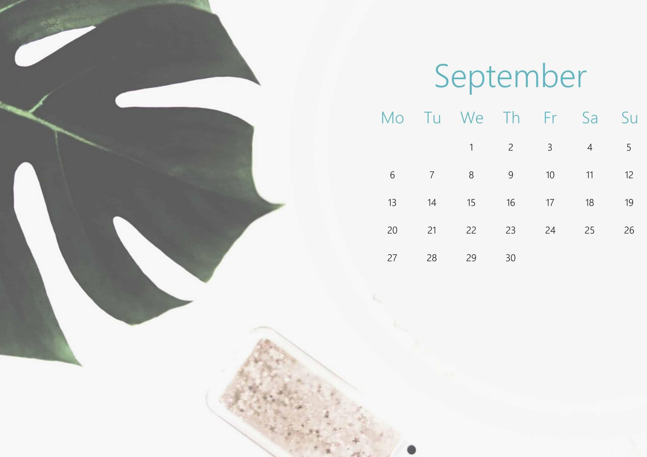Cute September Calendar 2021