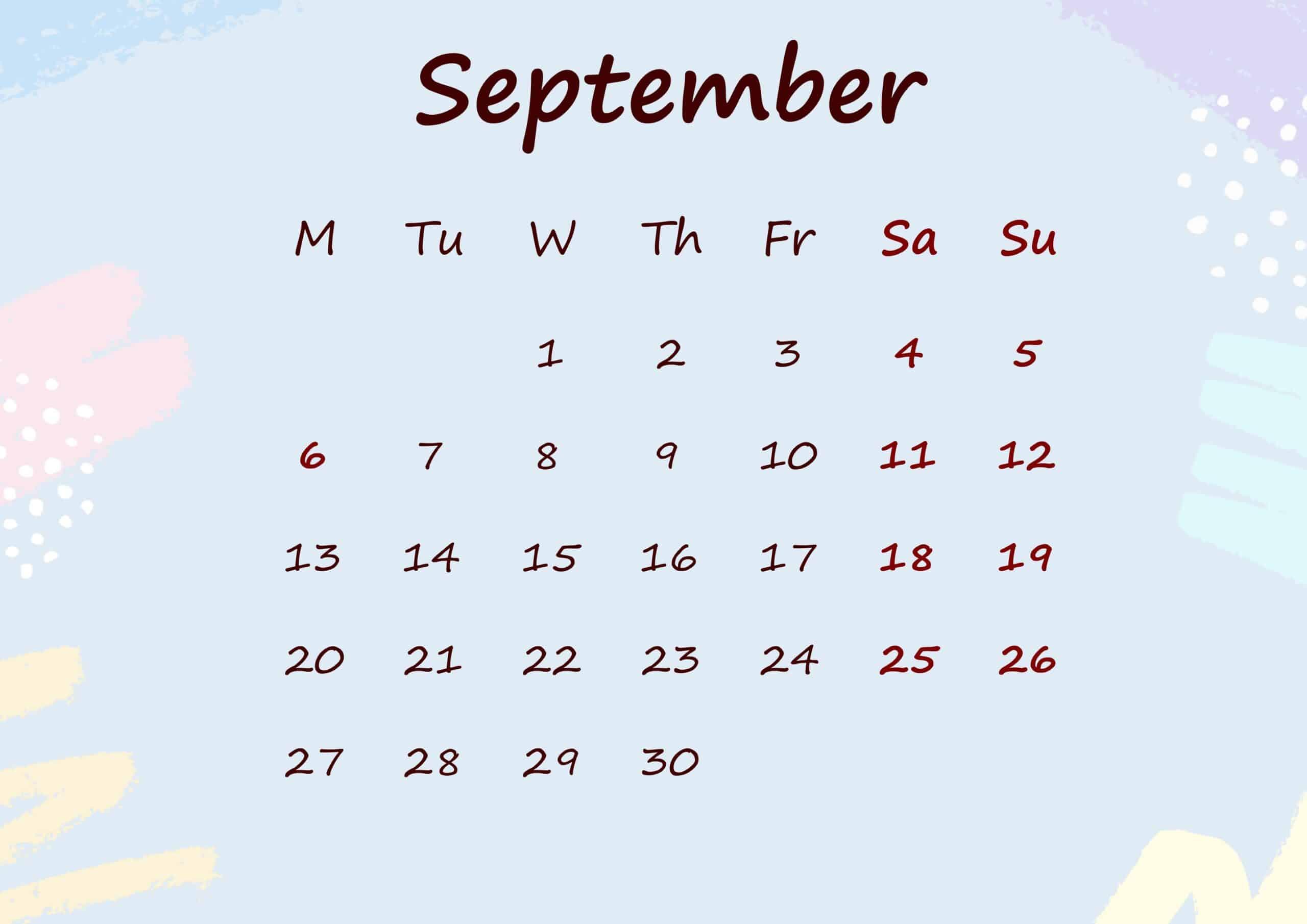 Floral Calendar September 2021