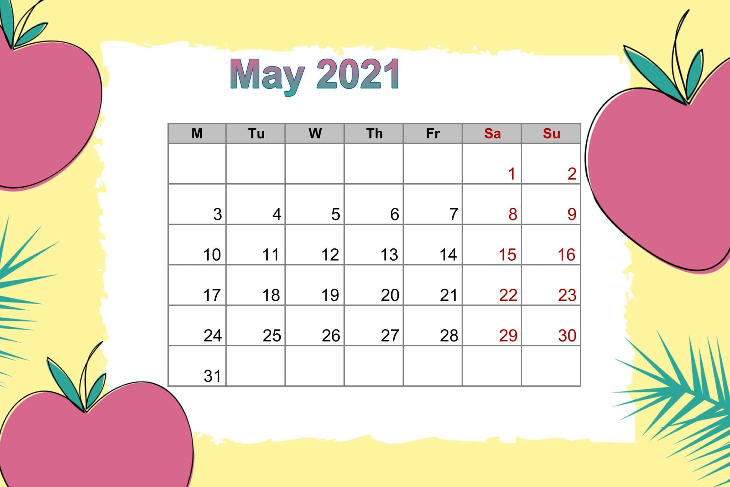 May 2021 Floral Calendar