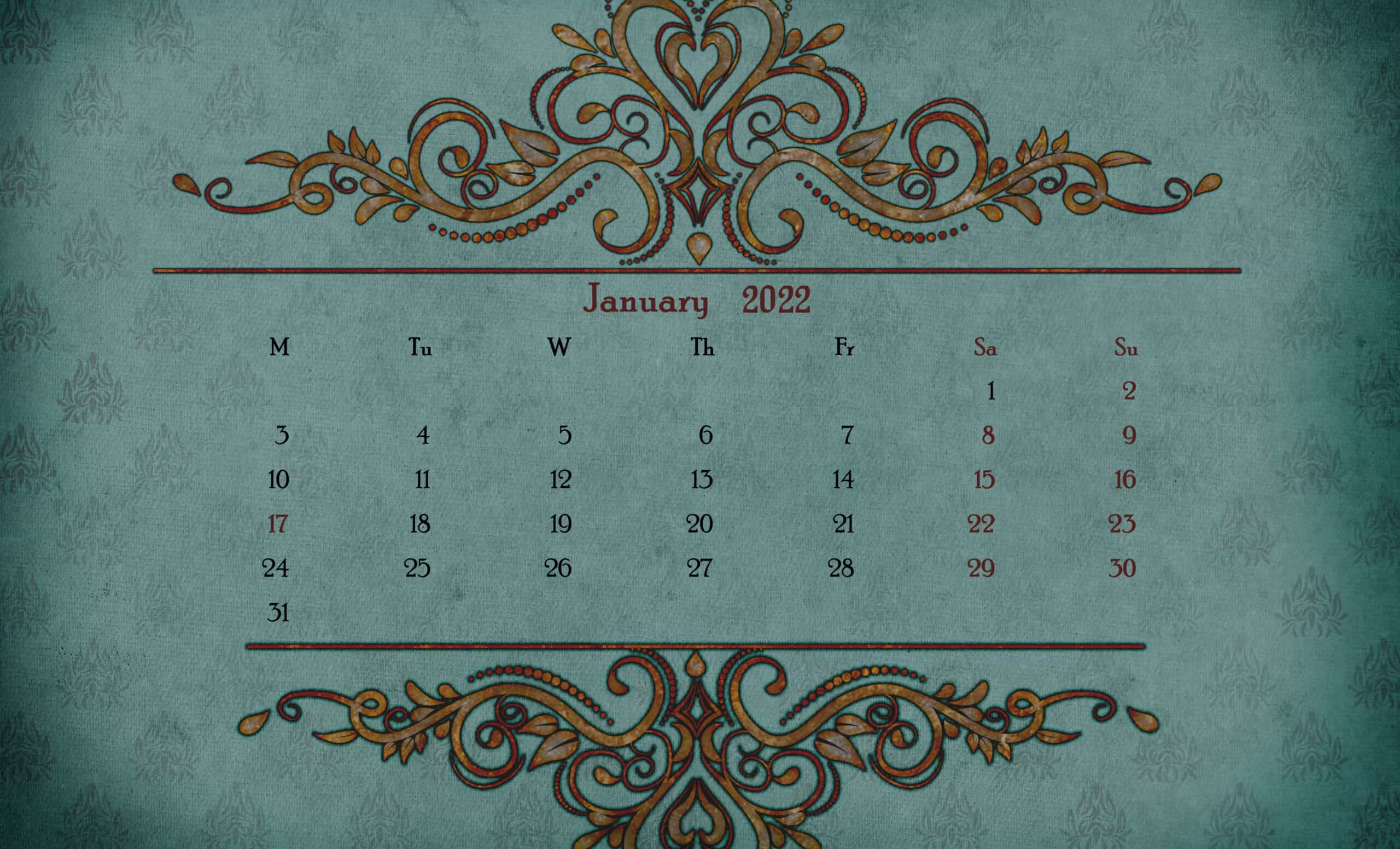 Printable Calendar 2022 December